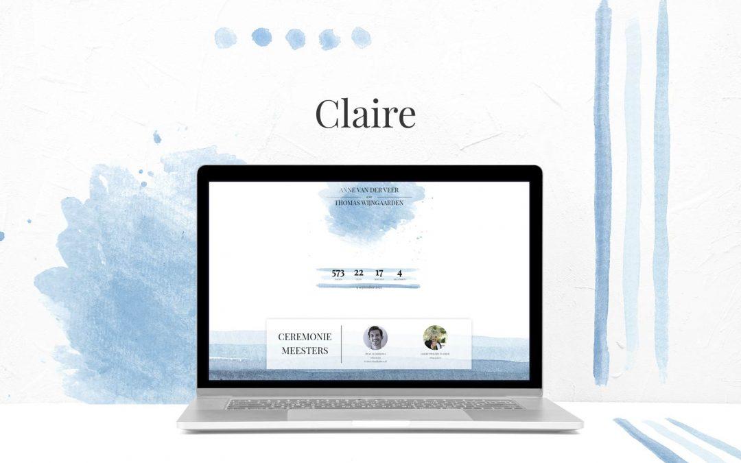 Nieuw thema toegevoegd: Claire